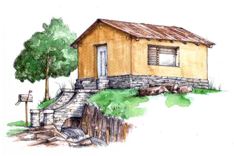 Tiny cob house plans the freeman this cob house for Cob home designs