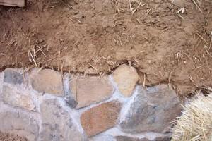 cob house stone stemwall