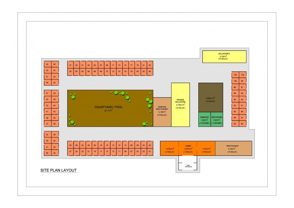 Cob Hotel - Site Plan