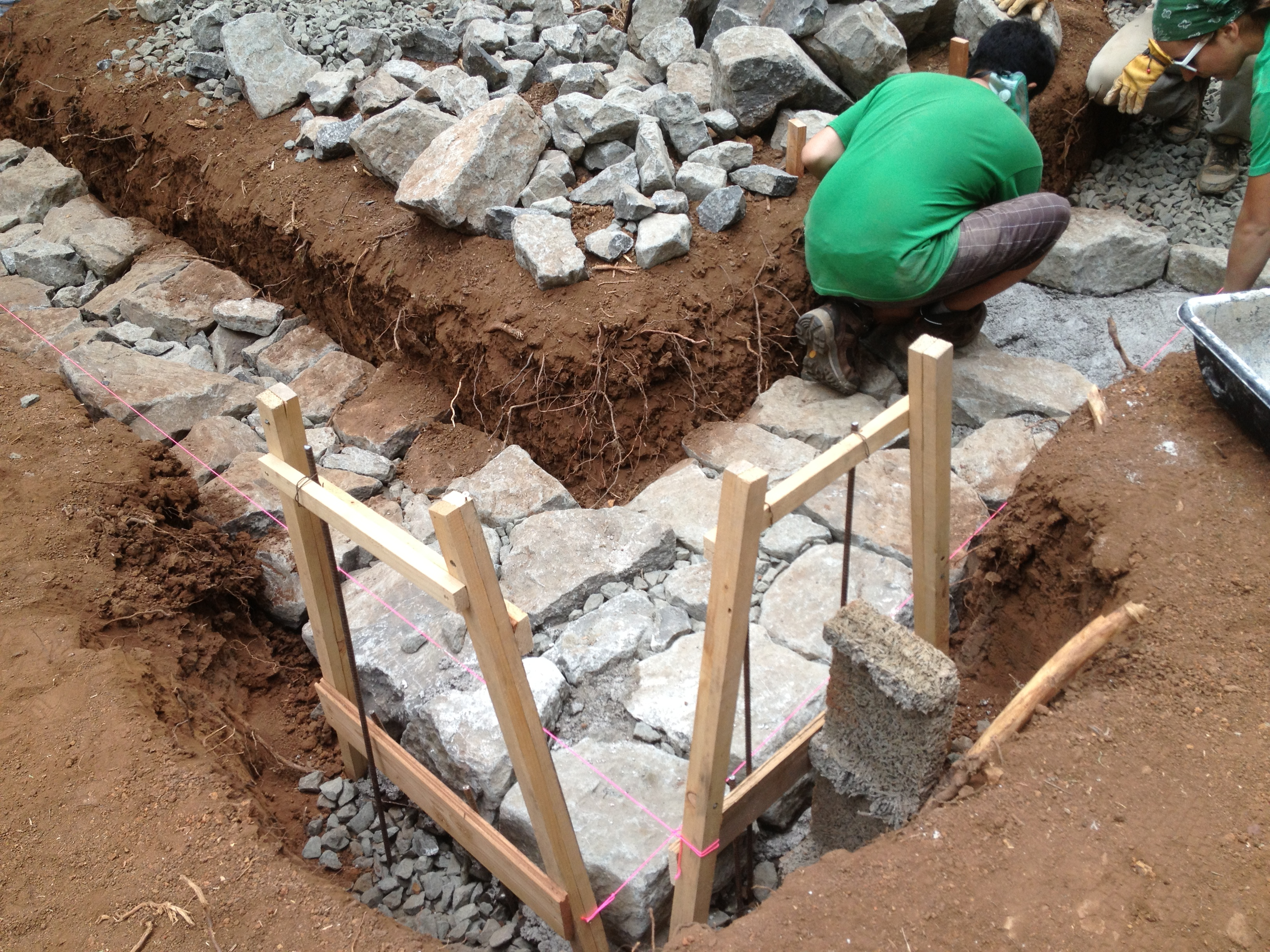 Building a stone foundation this cob house for What is needed to build a house
