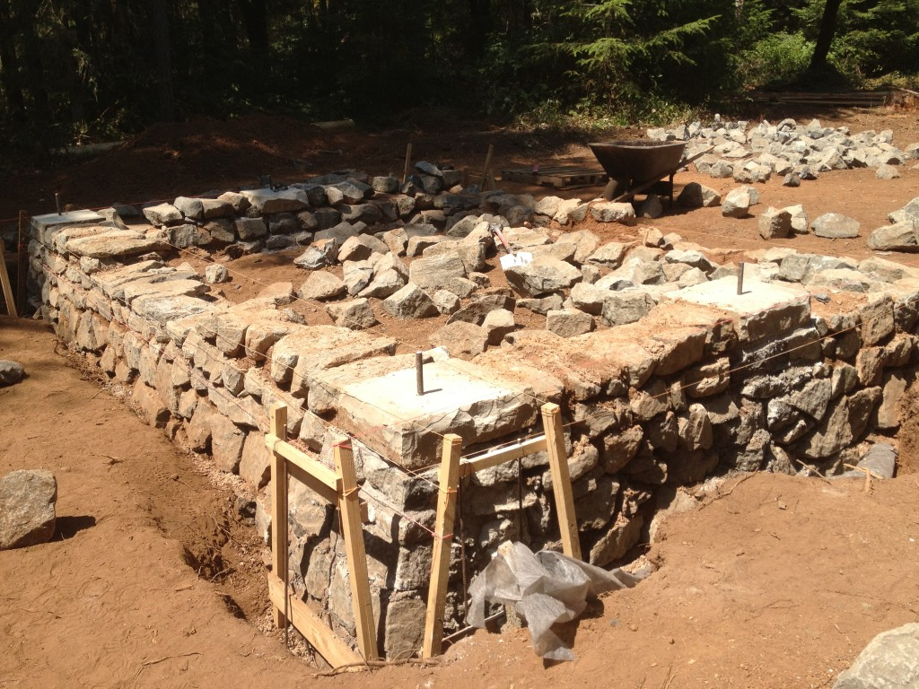 How to build a stone foundation construction and diy for Foundation for homes