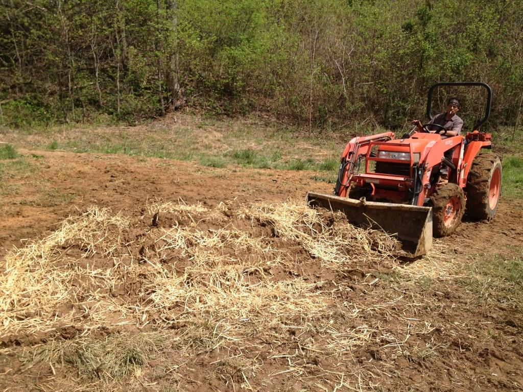 Tractor cob mixing