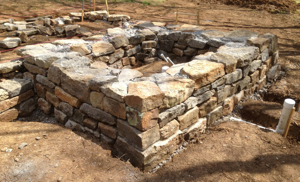 Granite Stone Foundation : Cob house stone masonry foundation workshop this