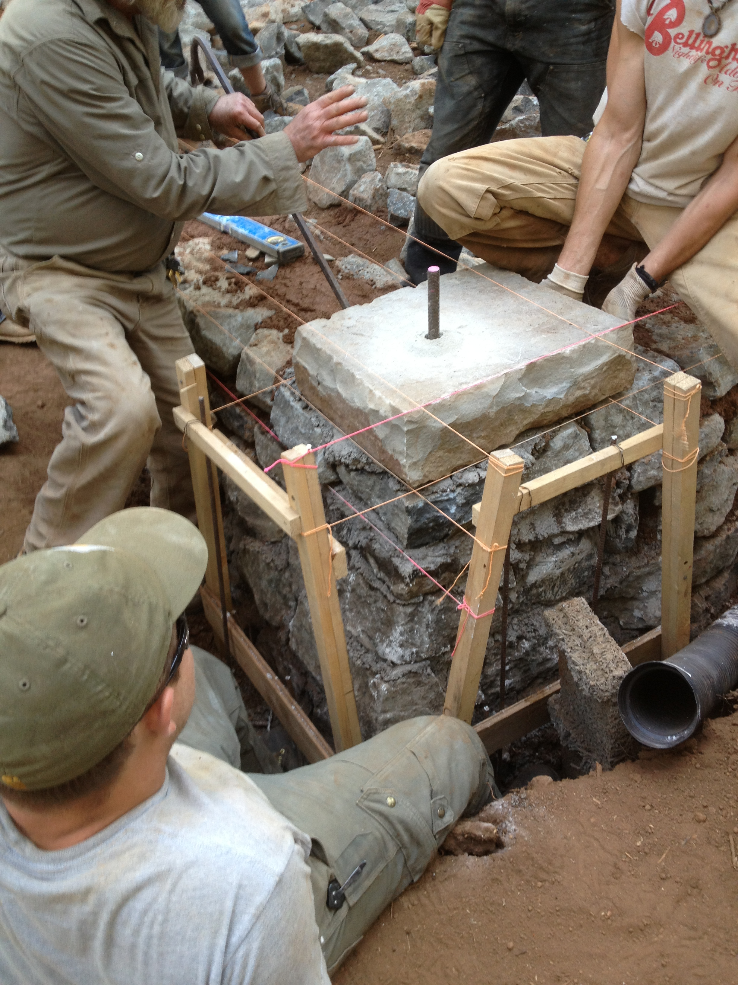 Building a stone foundation this cob house - Building a new home ...