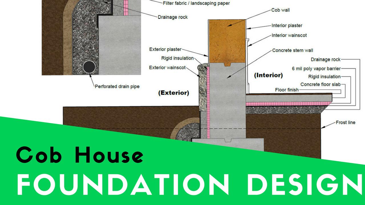 Cob House Foundation Design For The